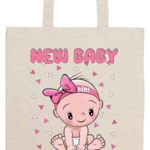 New baby girl- Prémium hosszú fülű táska