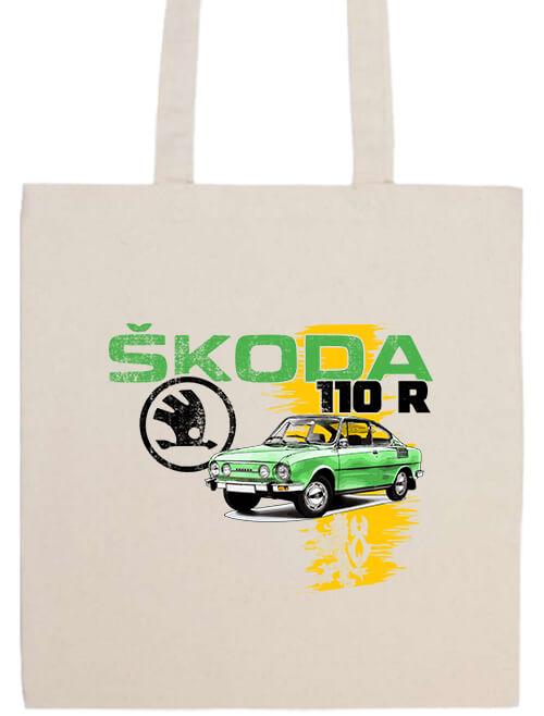 Hosszú fülű táska Skoda 110 R zöld natúr