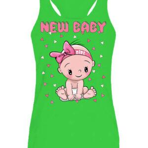 New baby girl – Női ujjatlan póló