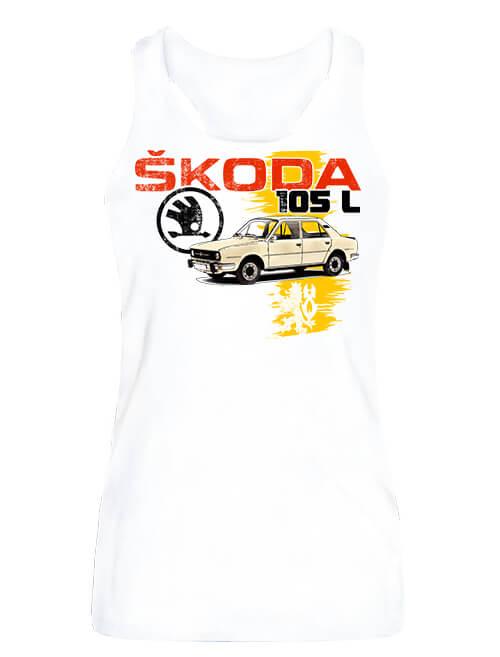 Női ujjatlan póló Skoda 105 L fehér