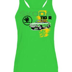 Skoda 110 R zöld – Női ujjatlan póló
