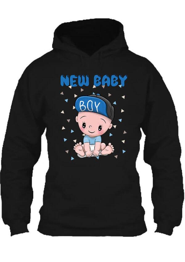 Pulóver New baby boy fekete