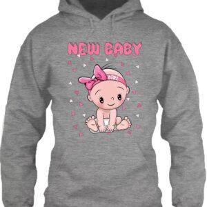 New baby girl – Unisex kapucnis pulóver