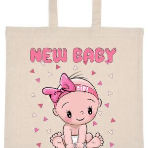 New baby girl- Basic rövid fülű táska