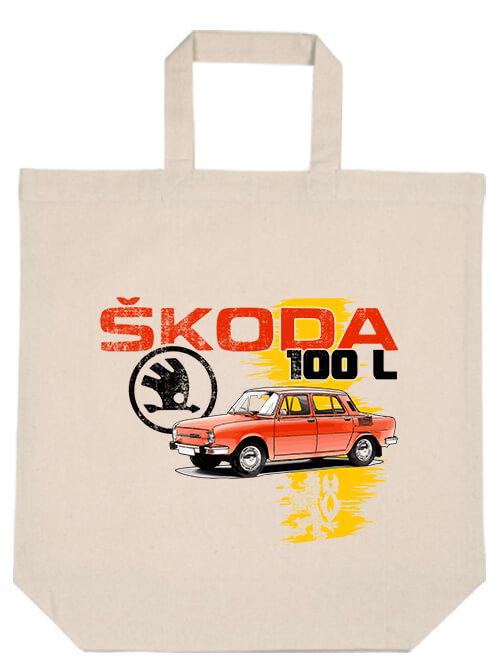 Rövid fülű táska Skoda 100 L natúr