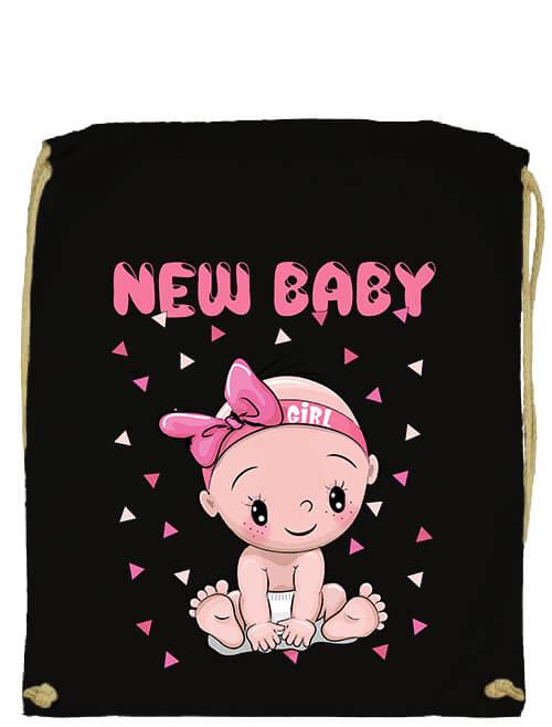 Tornazsák New baby girl fekete