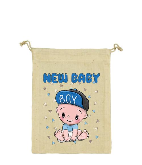 Vászonzacskó New baby boy natur