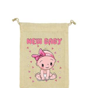 New baby girl – Vászonzacskó közepes
