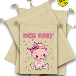 New baby girl – Vászonzacskó szett