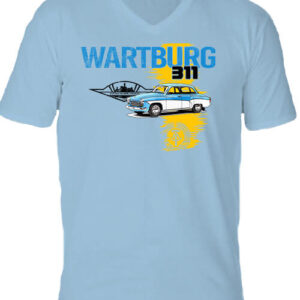 Wartburg 311 púpos – Férfi V nyakú póló