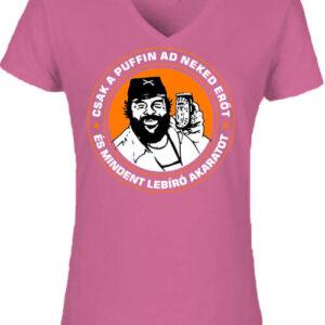 Csak a puffin – Női V nyakú póló