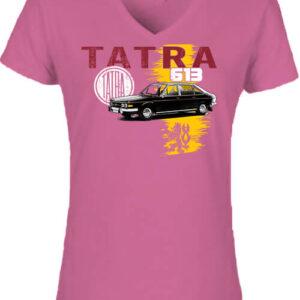 Tatra 613 – Női V nyakú póló
