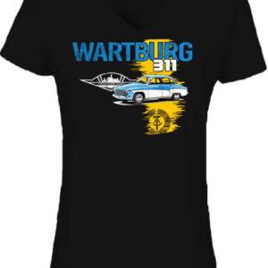 Wartburg 311 púpos – Női V nyakú póló