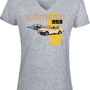 Wartburg 353 kocka – Női V nyakú póló