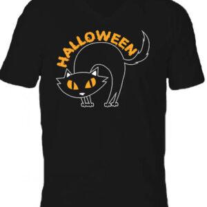 Halloween macska – Férfi V nyakú póló