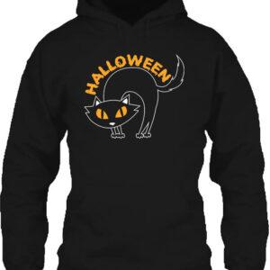 Halloween macska – Unisex kapucnis pulóver
